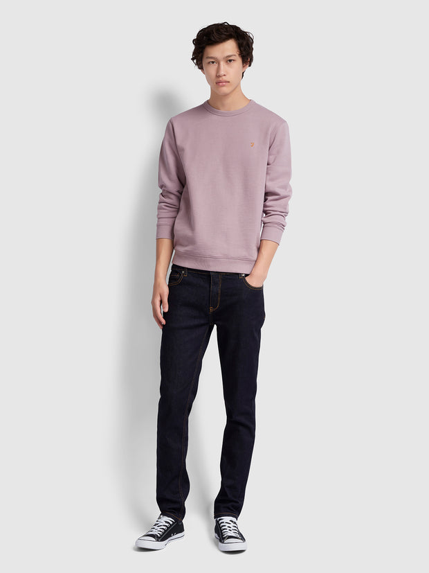 PICKWELL COTTON CREW NECK SWEATSHIRT IN WISTERIA