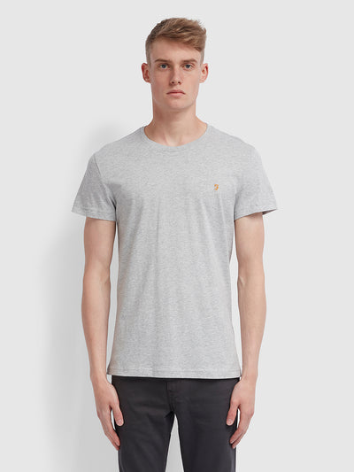 Farris Slim Fit Twin Pack T-Shirt In Grey Marl/True Navy