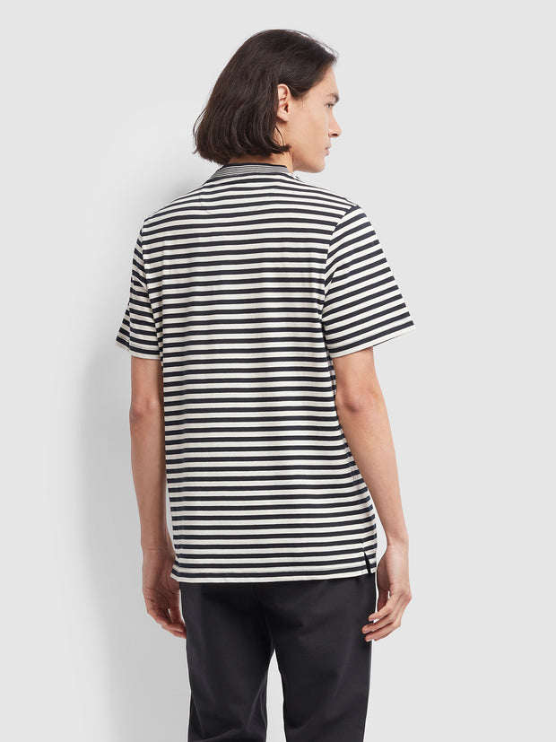 Galveston Striped T-Shirt In True Navy