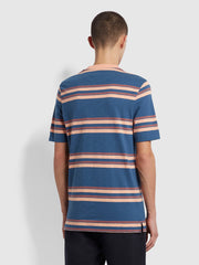 Mission Striped T-Shirt In Cold Metal