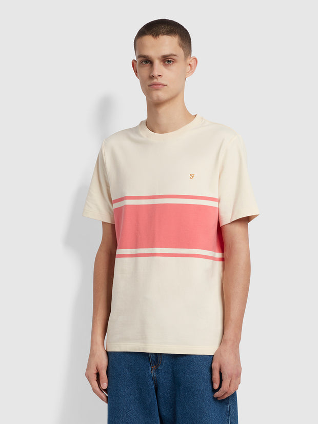 Belair Striped T-Shirt In Cream
