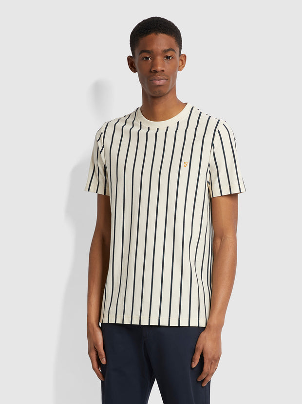 Beatty Slim Fit Striped T-Shirt In Cream