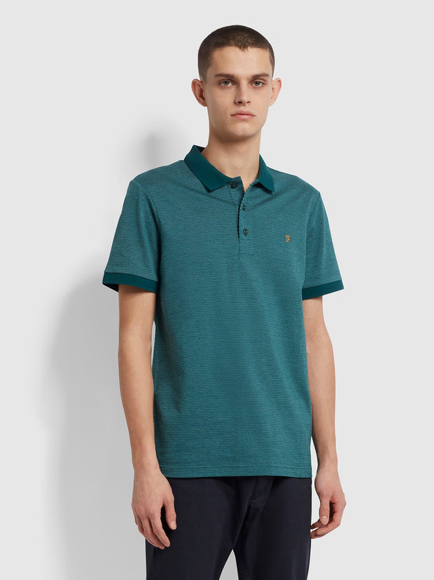 Warren Slim Fit Polo Shirt In Dark Teal