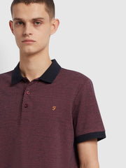 Warren Slim Fit Polo Shirt In True Navy