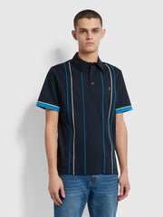 Stoneridge Striped Polo Shirt In True Navy