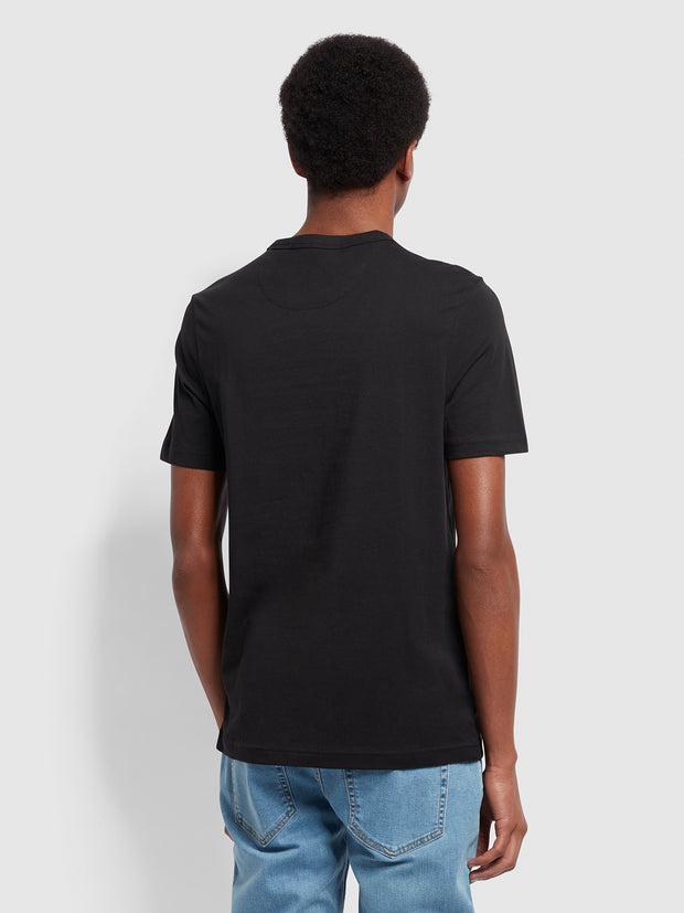 Danny Slim Fit Organic Cotton T-Shirt In Black