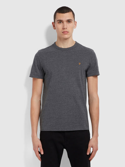 Danny Slim Fit Organic Cotton T-Shirt In Farah Grey Marl