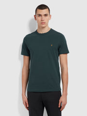 Danny Slim Fit Organic Cotton T-Shirt In Farah Forest Green
