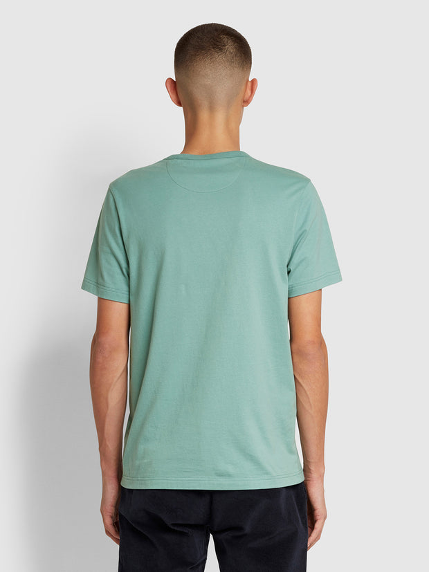 Danny Slim Fit Organic Cotton T-Shirt In Topaz Green
