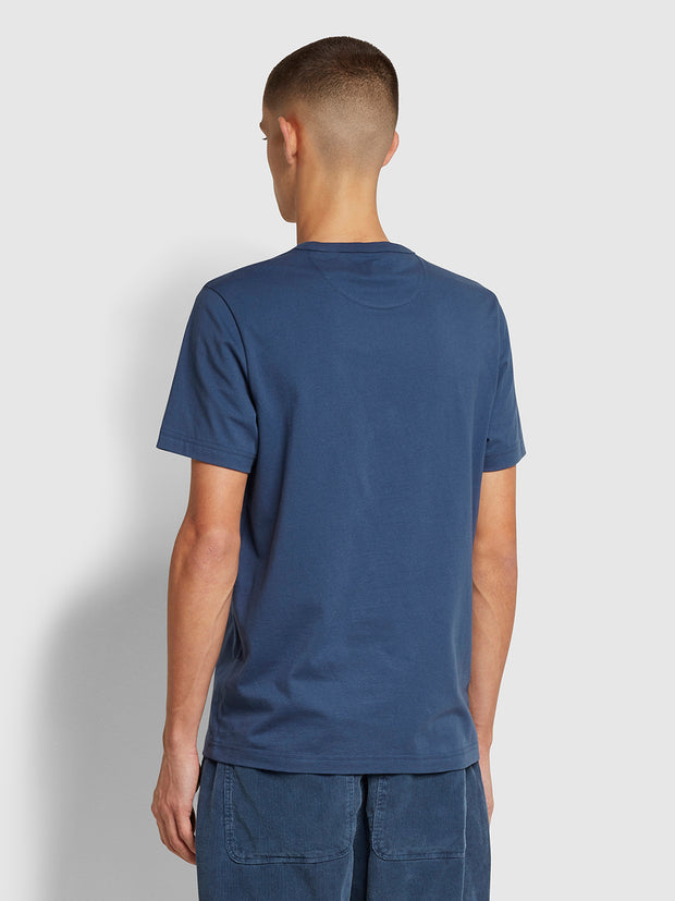 Danny Slim Fit Organic Cotton T-Shirt In Deep Blue