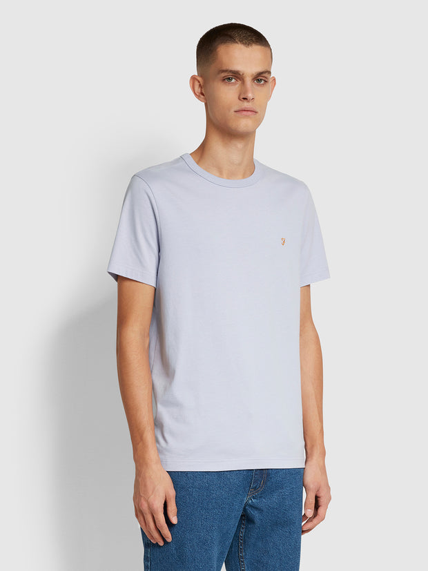 Danny Slim Fit Organic Cotton T-Shirt In Washed Lilac