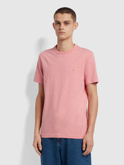 Danny Slim Fit Organic Cotton T-Shirt In Palisade Pink Marl