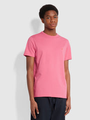 Danny Slim Fit Organic Cotton T-Shirt In Flamingo Pink