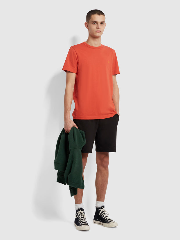 Danny Slim Fit Organic Cotton T-Shirt In Topanga Orange