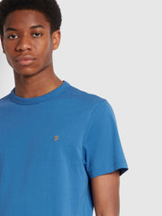 Danny Slim Fit Organic Cotton T-Shirt In Blue Mist