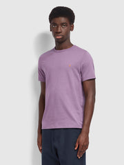 Danny Slim Fit Organic Cotton T-Shirt In Rich Lilac