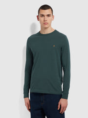 Worthington Slim Fit Long Sleeve Organic Cotton T-Shirt In Farah Forest Green