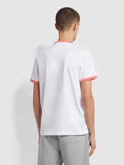 Groves Slim Fit Organic Cotton Ringer T-Shirt In Palisade Pink