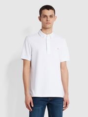 Ricky Slim Fit Organic Cotton Polo Shirt In White