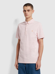 Ricky Slim Fit Organic Cotton Polo Shirt In Clyde Pink Marl