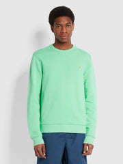 Tim Organic Cotton Crew Neck Sweatshirt In Spring Green