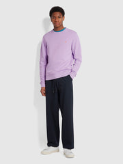 Tim Organic Cotton Crew Neck Sweatshirt In Pink Lavender