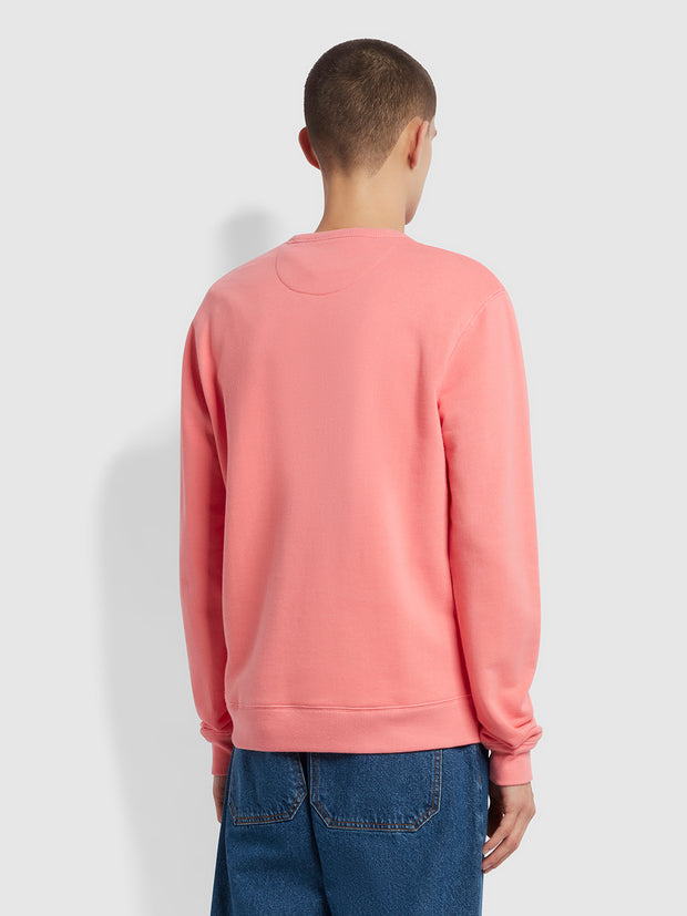 Tim Organic Cotton Crew Neck Sweatshirt In Palisade Pink