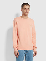 Tim Organic Cotton Crew Neck Sweatshirt In Apricot Marl