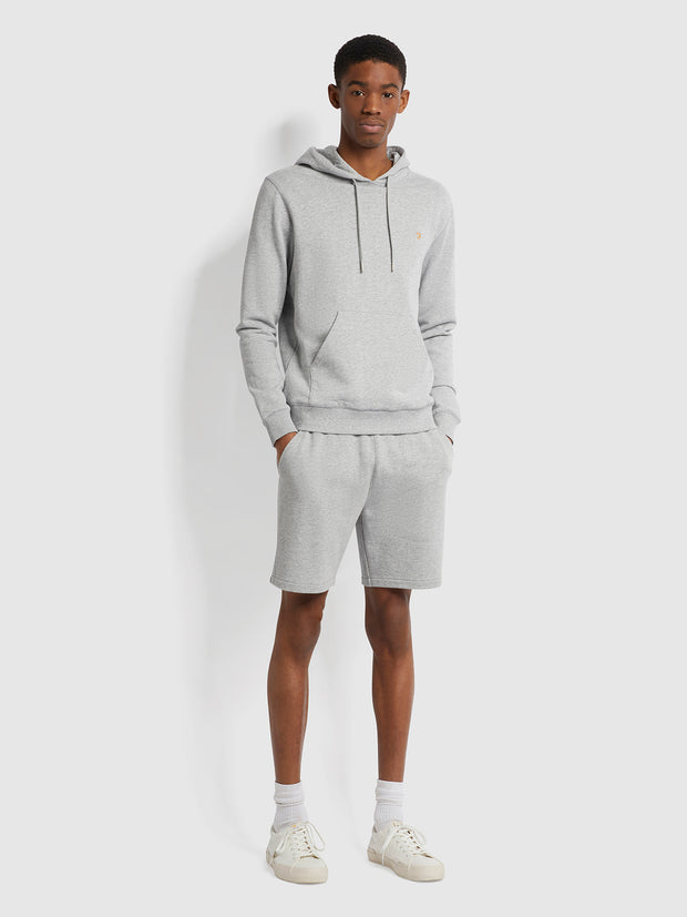 Zain Organic Cotton Hoodie In Light Grey Marl