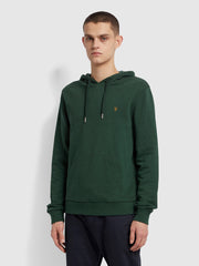 Zain Organic Cotton Hoodie In Cedar Green Marl