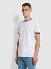 Texas Slim Fit Organic Cotton T-Shirt In White