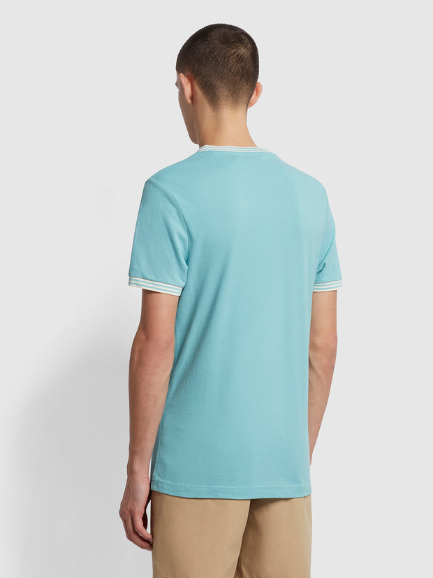Texas Slim Fit Organic Cotton T-Shirt In Reef Green