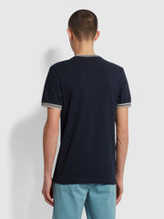 Texas Slim Fit Organic Cotton T-Shirt In True Navy