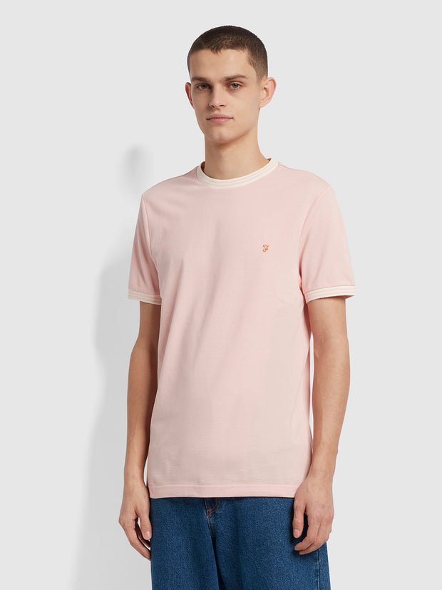Texas Slim Fit Organic Cotton T-Shirt In Clyde Pink