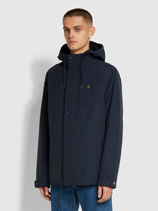 Maguire Fleece Lined Jacket In True Navy