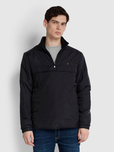 CHANDLER REVERSIBLE OVERHEAD JACKET IN DEEP BLACK