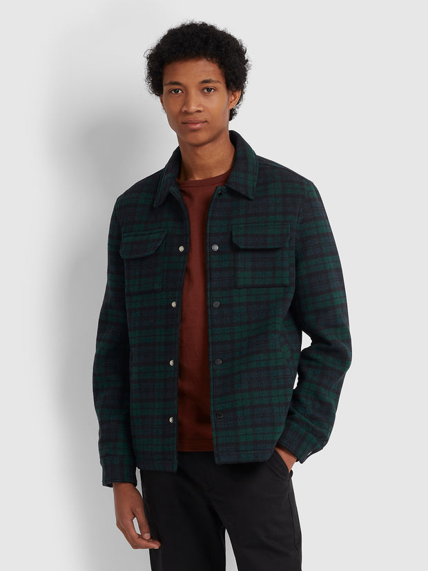 LAURIE CHECK MELTON JACKET IN GRASS