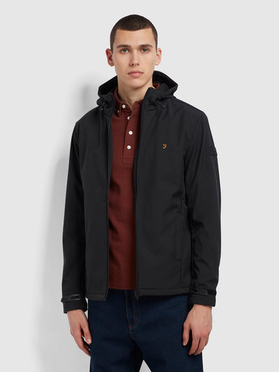 Bective Soft Shell Coat In Deep Black