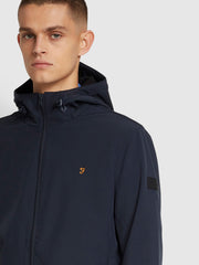 Bective Soft Shell Coat In True Navy