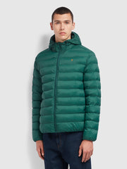 Strickland Wadded Coat In Emerald Green