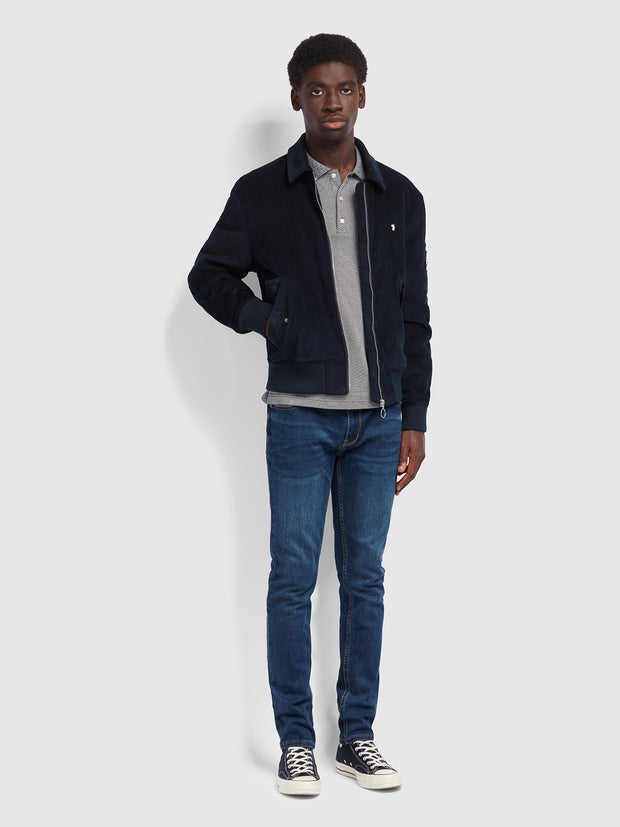 Suggs Bomber Jacket In True Navy