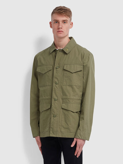 Travis Field Jacket In Vintage Green