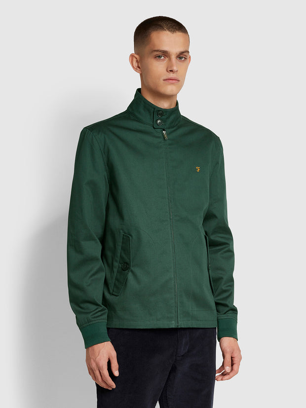 Hardy Harrington Jacket In Farah Forest Green