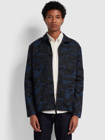 Eley Camo Print Jacket In Yale