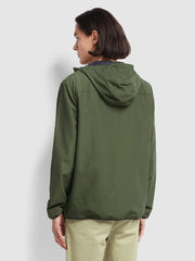 Strode Hooded Coat In Moss