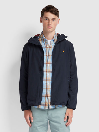 STRODE HOODED COAT IN TRUE NAVY