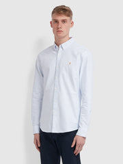 Brewer Slim Fit Striped Oxford Shirt In Beach House