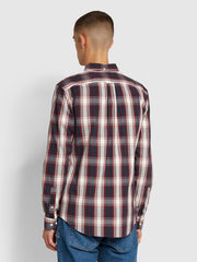 Brewer Slim Fit Tartan Oxford Shirt In Farah Raspberry