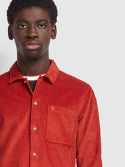 Wyman Casual Fit Cord Shirt In Farah Russet