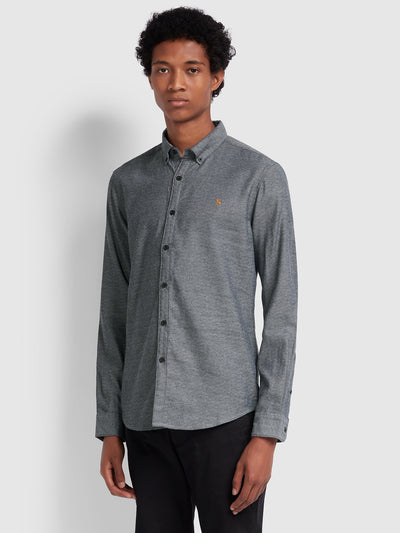 Kreo Slim Fit Brushed Cotton Shirt In Linen